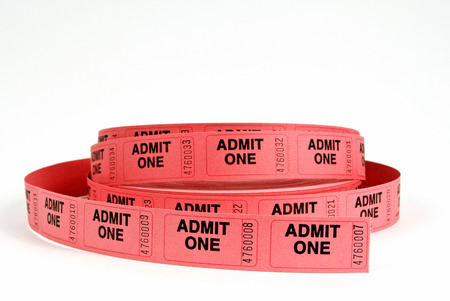 Roll Of Admission Tickets Red