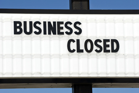 closeout: Business Closed Sign