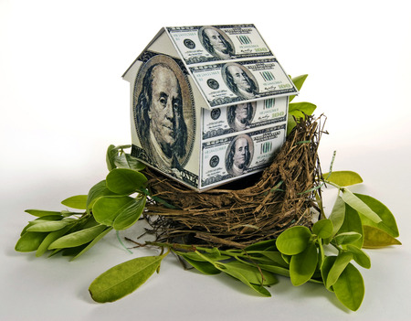 refinance: Residential Nest Egg Concept