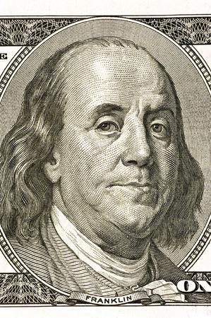 benjamin franklin: Benjamin Franklin Close Up Shot