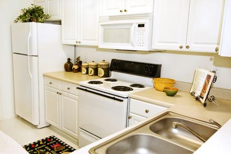 upscale: Upscale Apartment Kitchen Stock Photo