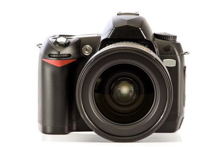 Digital Professional Camera Isolated On White Background