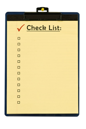 Checklist On Clipboard With Red Check Mark Banco de Imagens