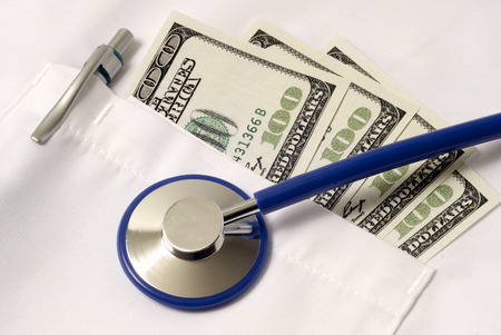 venality: Close Up Shot Showing High Cost Of Healthcare And Medical