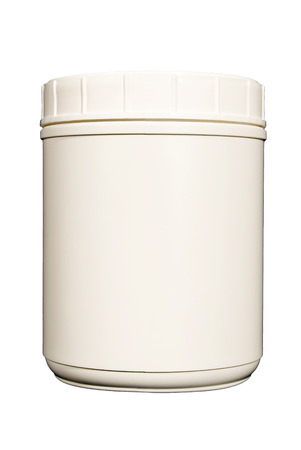 canister: Blank White Canister With Copy Space