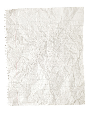 ruled paper: White Crinkled Or Crumpled Ruled Paper Background