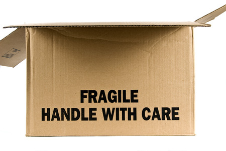 trashed: Fragile Brown Box  Opened