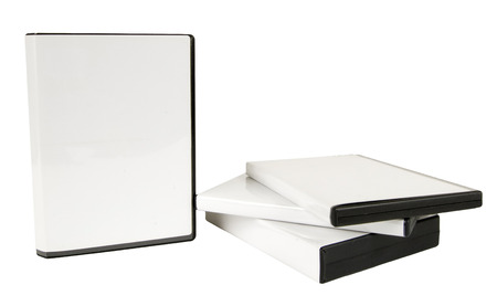 writable: Blank White DVD Cases With Stack Of Cases