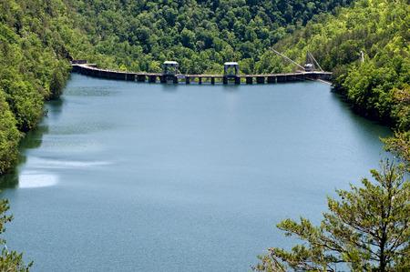 hydro electric: Beautiful Scenery With Hydro Electric Dam On Mountain Lake