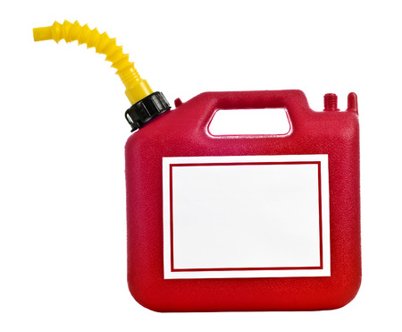 Gasoline Can With Blank Sign For Copy photo