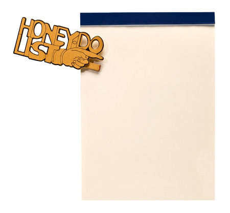 hand carved: Hand Carved Honey Do List Clipped To Blank Note Pad