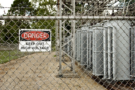 chain link fence: DANGER Keep Out Sign Horizontal