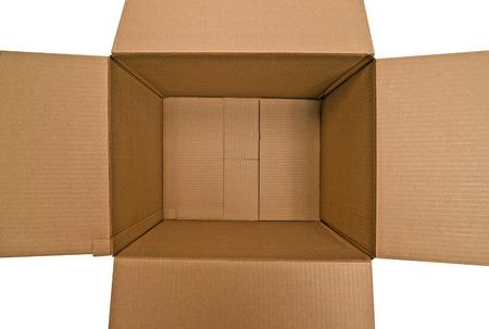Overhead Empty Box Reklamní fotografie