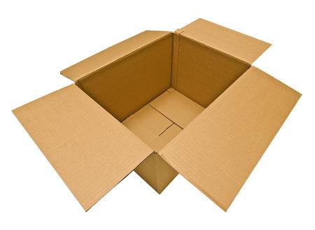empty warehouse: Empty Opened Cardboard Box