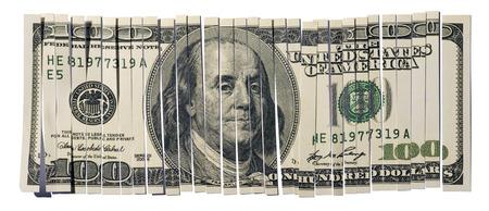 worthless: Shredded Hundred Dollar Bill