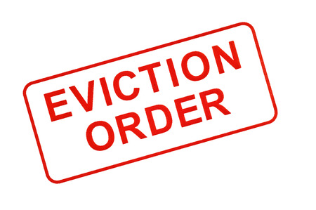 expulsion: EVICTION ORDER Stamp in Red