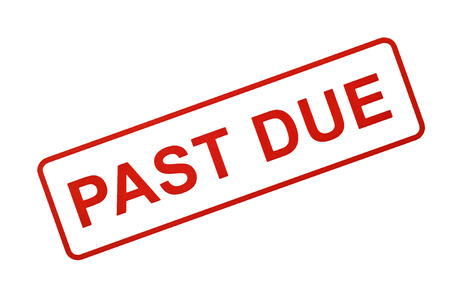 due date: PAST DUE Stamp in Red