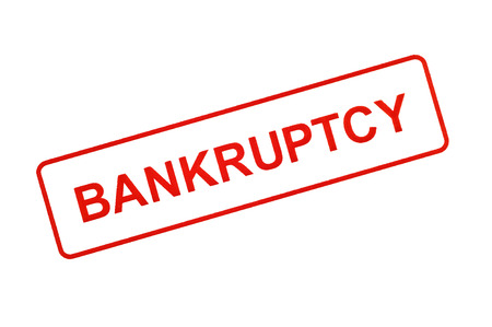 insolvent: BANKRUPTCY Stamp In Red