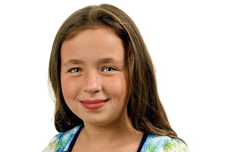 green eyes: Portrait Of Pretty Little Girl With Green Eyes