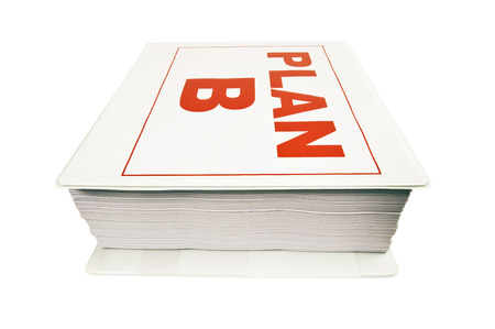 business symbols metaphors: PLAN B Notebook In Bold Red Letters