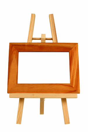 Small Empty Picture Frame On Little Easel photo