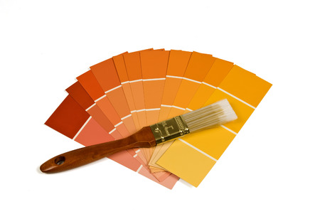 paint samples: Paint Brush And Paint Samples