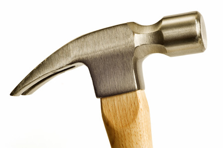 hammer head: Hammer Head With Wooden Handle Close Up Shot