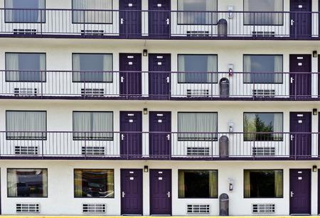 Resort Area Motel Rooms 版權商用圖片
