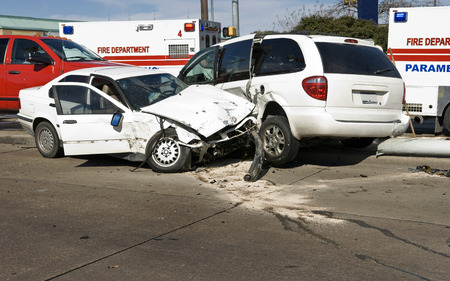 emergency vehicle: Vehicle Accident At Intersection