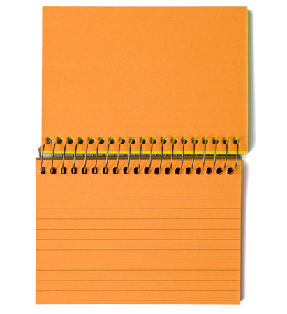 ruled: Brightly Colored Orange Blank Ruled Note Cards