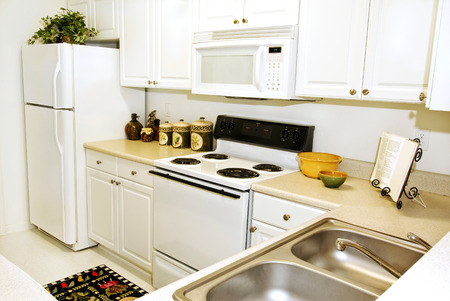 Upscale Apartment Kitchen Stock Photo