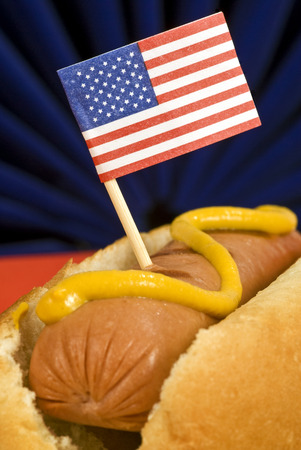 The American Hot Dog With Little Flag photo
