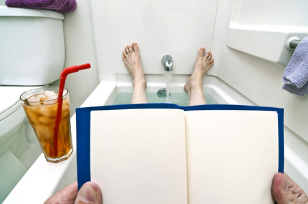 reading material: Blank Reading Material For Bathtub Readers Stock Photo