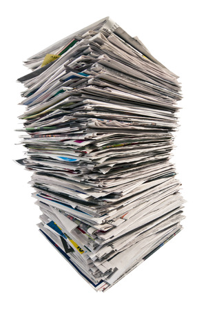 reprocessing: Huge Stack Of Newspapers