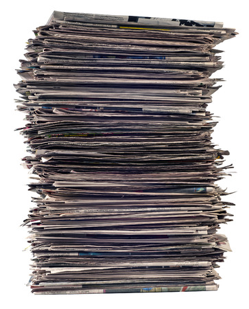 reprocessing: Tall Stack Of Newspapers