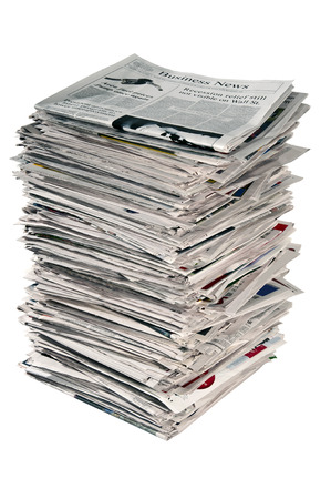 Large Stack Of Newspapers