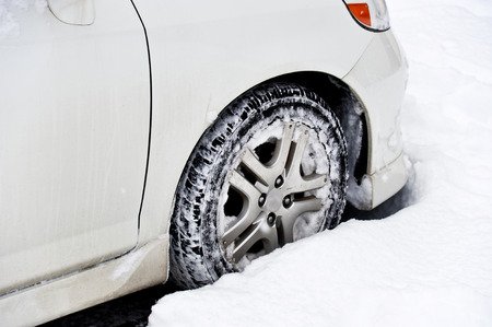 Car Stuck In The Snow photo