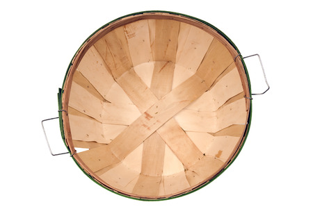 bushel: Overhead Shot Of Empty Bushel Basket