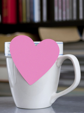 Valentine Post It Note On Coffee Cup