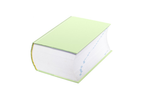 Large Green Book With Cover Blank for Copy Space