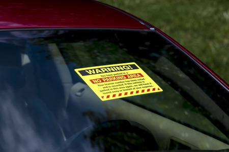 affixed: Windshield Sticker For Parking Violation