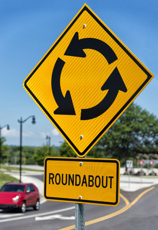 roundabout: Traffic Roundabout Sign Vertical