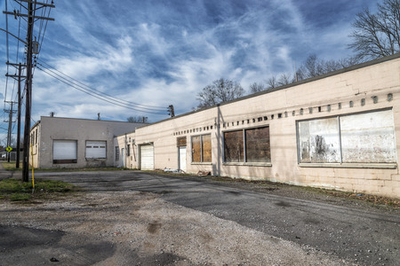 has been: An old service or manufacturing facility that has long been abandoned.