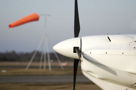 Wind sock and propeller photo