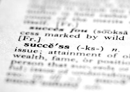 Dictionary definition of success. Stock Photo