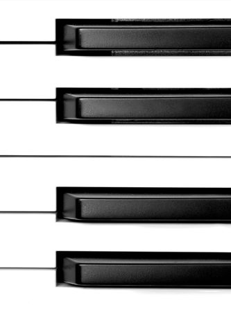 Black and white piano keys. Stock Photo - 406639