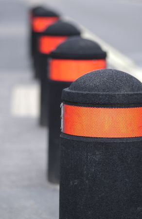 Traffic safety bollards. photo