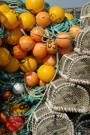lobster pots: Trawling equipment and lobster pots