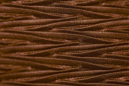 Macro of chocolate color textured fabric. Stock Photo - 712774