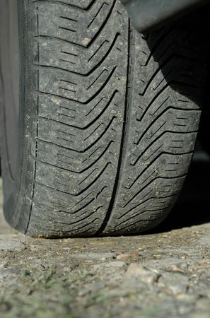 Close-up of slightly worn car tire tread. Stock Photo - 770290